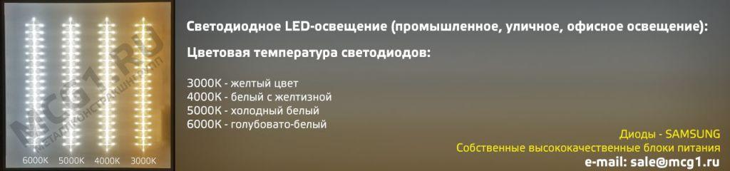 Цветовые температуры ламп для освещения